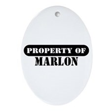 Property of Marlon Oval Ornament
