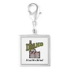 Idaho - Funny Saying Silver Square Charm