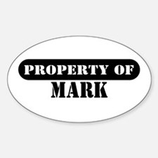 Property of Mark Oval Decal