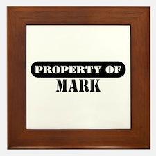 Property of Mark Framed Tile