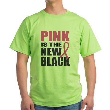 Pink New Black Green T-Shirt