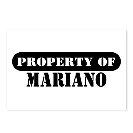 Property of Mariano Postcards (Package of 8)