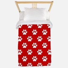 Paws Red Twin Duvet