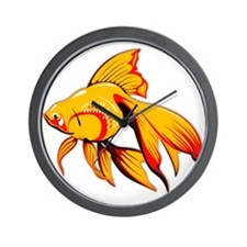 Fantail Goldfish Wall Clock