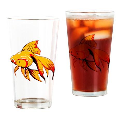Fantail Goldfish Drinking Glass