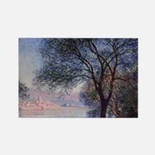 Monet - Antibes Seen from the Sal Rectangle Magnet