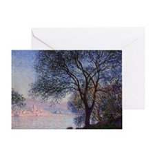 Monet - Antibes Seen from the Salis  Greeting Card