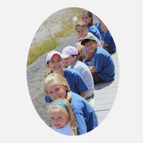 Add Your Vertical Photo Ornament (Oval)