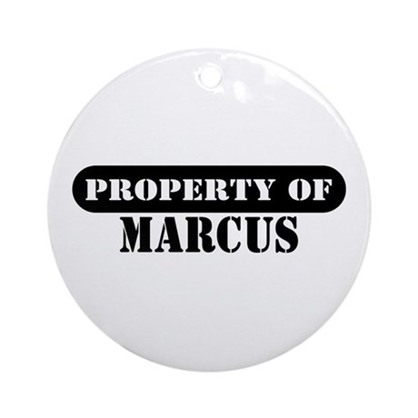 Property of Marcus Ornament (Round)