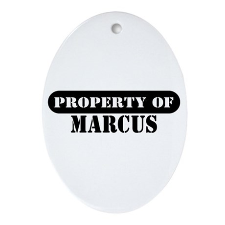Property of Marcus Oval Ornament