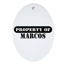 Property of Marcos Oval Ornament