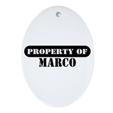 Property of Marco Oval Ornament