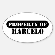 Property of Marcelo Oval Decal