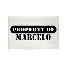Property of Marcelo Rectangle Magnet