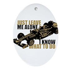 Kimi Raikkonen - Just Leave Me Alone Ornament (Ova