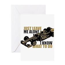 Kimi Raikkonen - Just Leave Me Alone Greeting Card