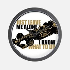 Kimi Raikkonen - Just Leave Me Alone Wall Clock