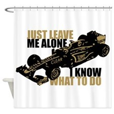 Kimi Raikkonen - Just Leave Me Alone Shower Curtai