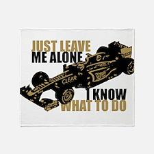 Kimi Raikkonen - Just Leave Me Alone Throw Blanket
