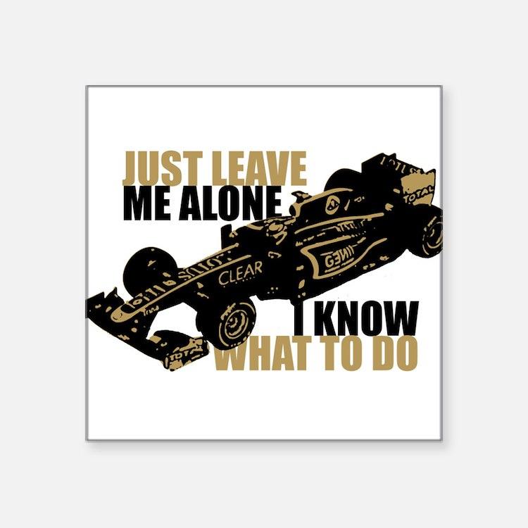 Kimi Raikkonen - Just Leave Me Alone Sticker