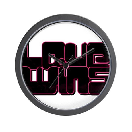 Love wins pink and black Wall Clock