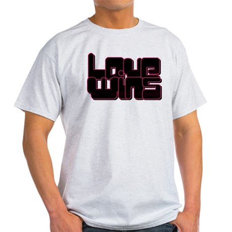 Love wins pink and black T-Shirt