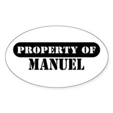 Property of Manuel Oval Decal