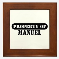 Property of Manuel Framed Tile