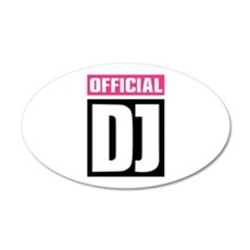 Official DJ 35x21 Oval Wall Decal