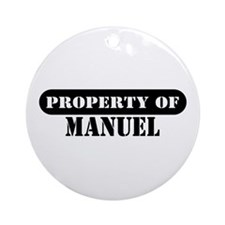 Property of Manuel Ornament (Round)