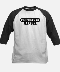 Property of Manuel Kids Baseball Jersey