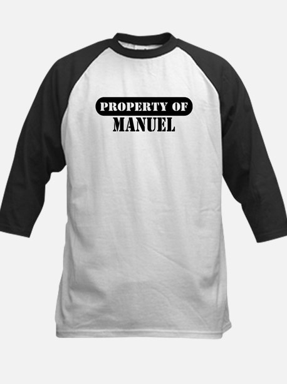 Property of Manuel Kids Baseball Jersey