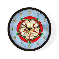 Tudor Rose Wall Clock