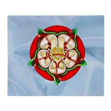 Tudor Rose Throw Blanket