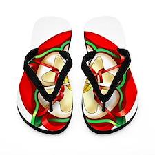 Tudor Rose Flip Flops
