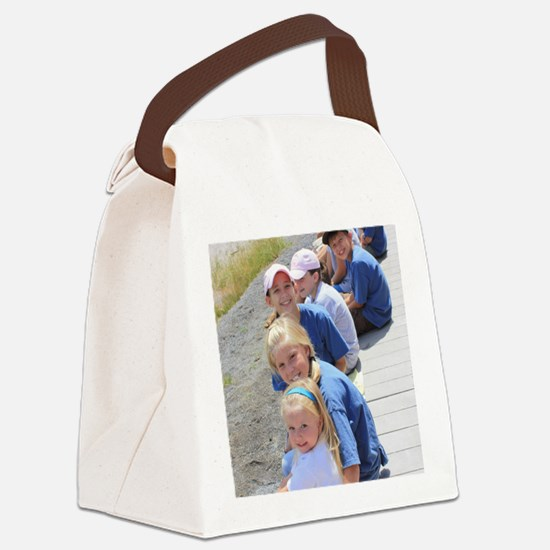 Add your Square Photo Canvas Lunch Bag