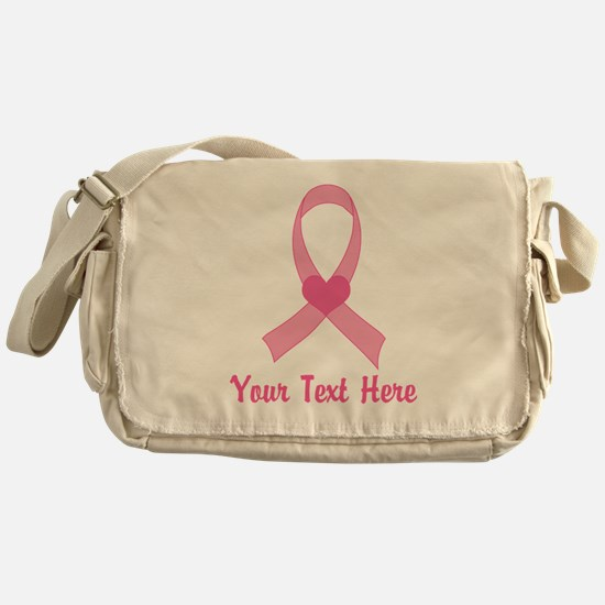 Breast Cancer Personalized Ribbon Messenger Bag