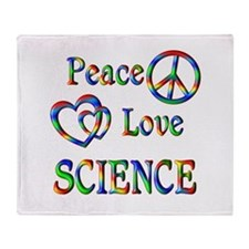 Peace Love SCIENCE Throw Blanket