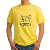 Science teacher Mens Yellow T-shirts