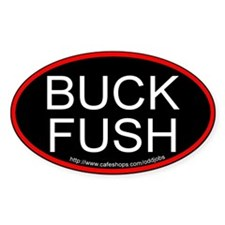 Buck Fush Bumper Oval Decal