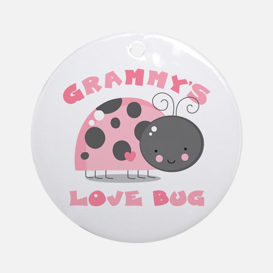 Grammy's Love Bug Ornament (Round)