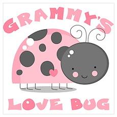 Grammy's Love Bug Wall Art Poster