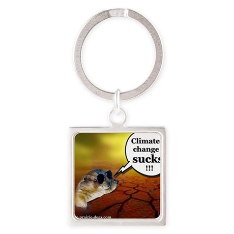 Keystone Prairie Dogs Climate chan Square Keychain