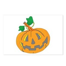 Halloween Carved Pumpkin Postcards (Package of 8)