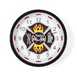 Firefighter Wall Clocks