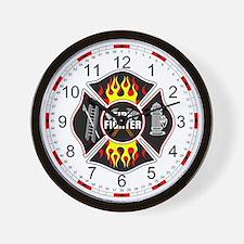 FireFighter Shield Wall Clock