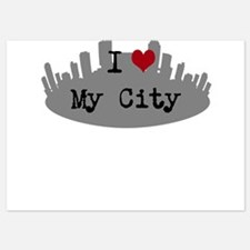 Customizable I Heart City Invitations
