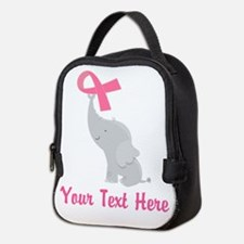 Breast Cancer Personalized Ribbon Neoprene Lunch B