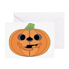 Halloween Carved Pumpkin Greeting Cards