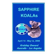 Sapphire KOALA 2008 - Postcards (Package of 8)